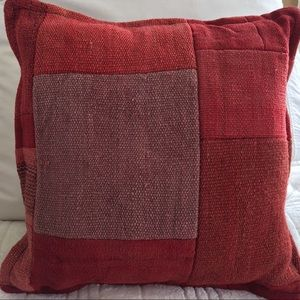 Textured Pillow Red/Lavender/Pink